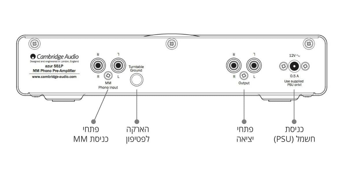 Diagram for Cambridge Audio Azur 551P : קדם מגבר MM לפטיפון