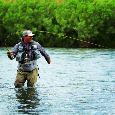 Brandon Prince T&T rep hooks into a trout.