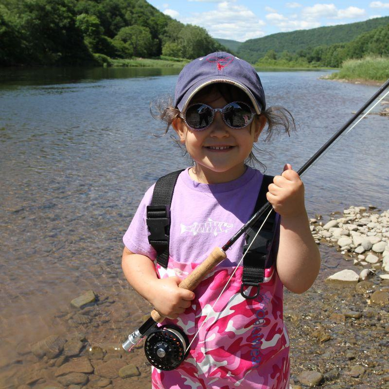 Tony D'Alessio - taking my daughter out fly fishing with her very own T&T