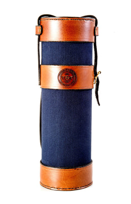 T&T Leather and Canvas Bottle Holder