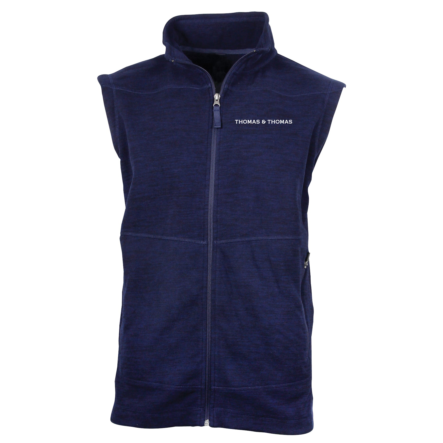 T&T Midnight Navy Heather Fleece Vest