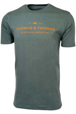 Thomas & Thomas TRYWEO T-Shirt - Hunter Green - Navy Blue