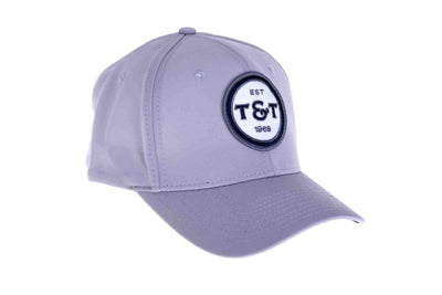 The Silver T&T Flex Fit badge hat available in S/M and L/XL