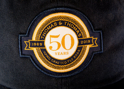 Thomas and Thomas Fly Fishing 50th Anniversary Badge