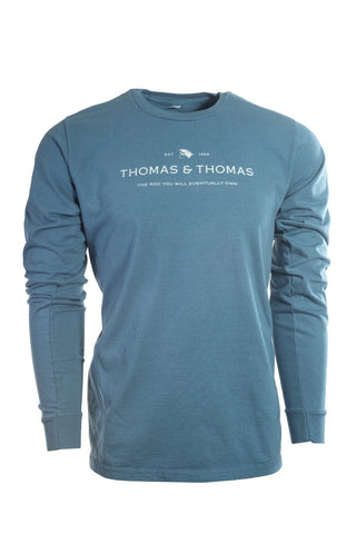 Thomas and Thomas long sleeve logo shirt.