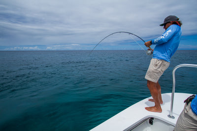 Thomas and ThomasAdvisor Keith Rose-Innes is cranking on an Exocett saltwater fly fishing rod.