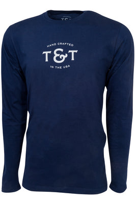 Classic Monogram Long Sleeve - Navy Blue