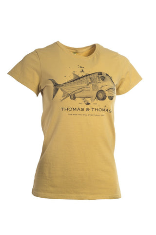 Thomas and Thomas women's GT Bus short sleeve tee.