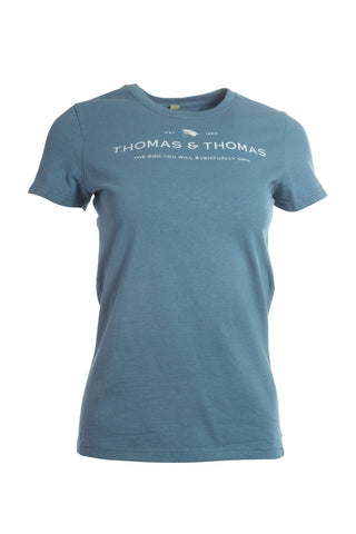 Thomas and Thomas women's short sleeve logo tee.