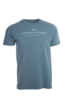 Classic Thomas and Thomas blue logo tee shirt