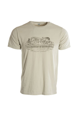 Thomas and Thomas short sleeve vintage Greenfield, MA tee tin cup color.
