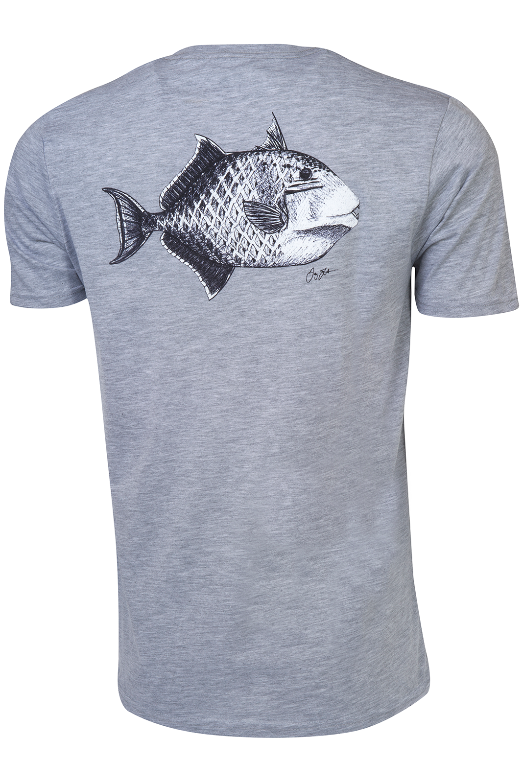 Yellowmargin Triggerfish T-Shirt - Gray