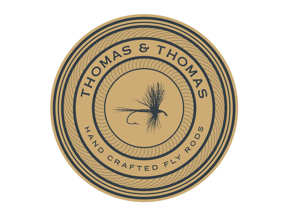Thomas and Thomas round dry fly decal