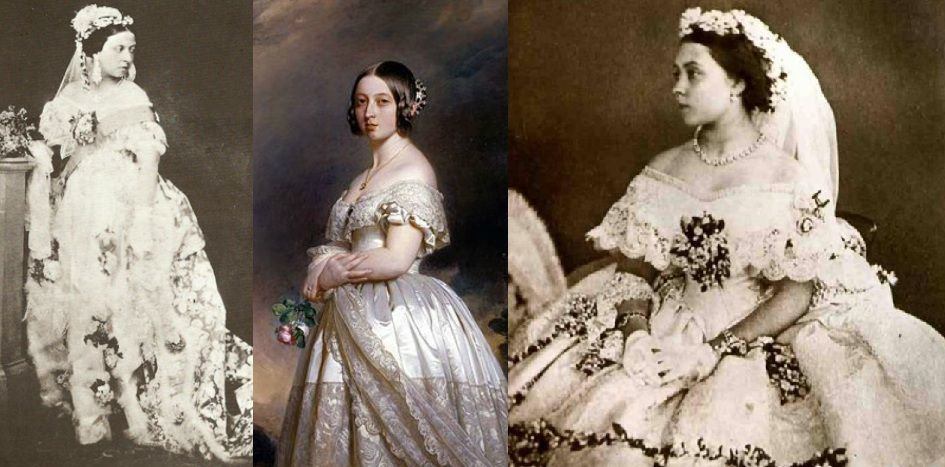 queen Victoria white wedding traditional dress