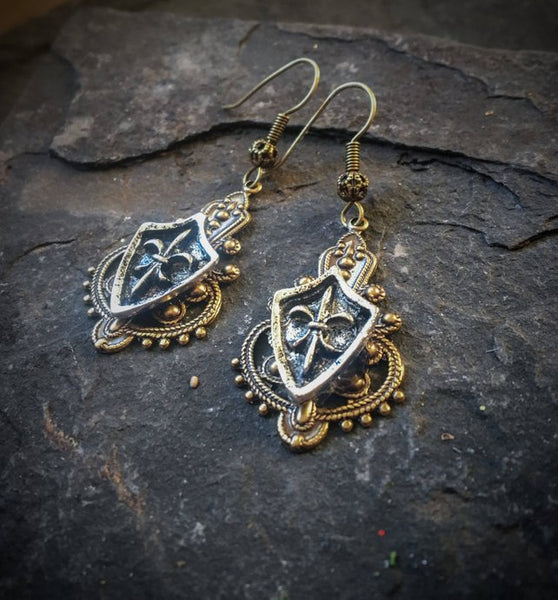 gaelic highlander scottish earrings inspired by clare from outlander television show