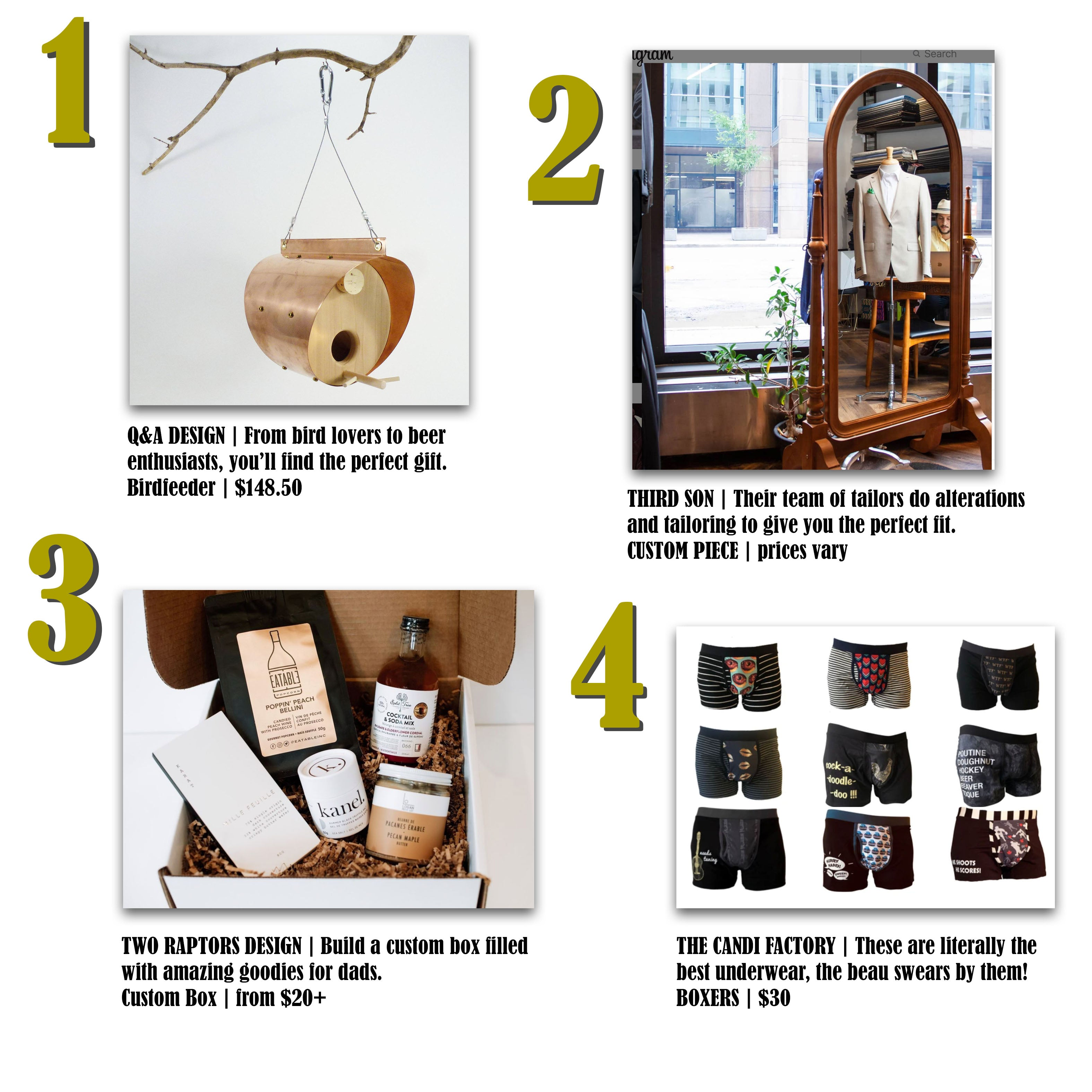 Q&A Design, Third Son Tailor, Two Raptors Gift Box and The Candi Factory