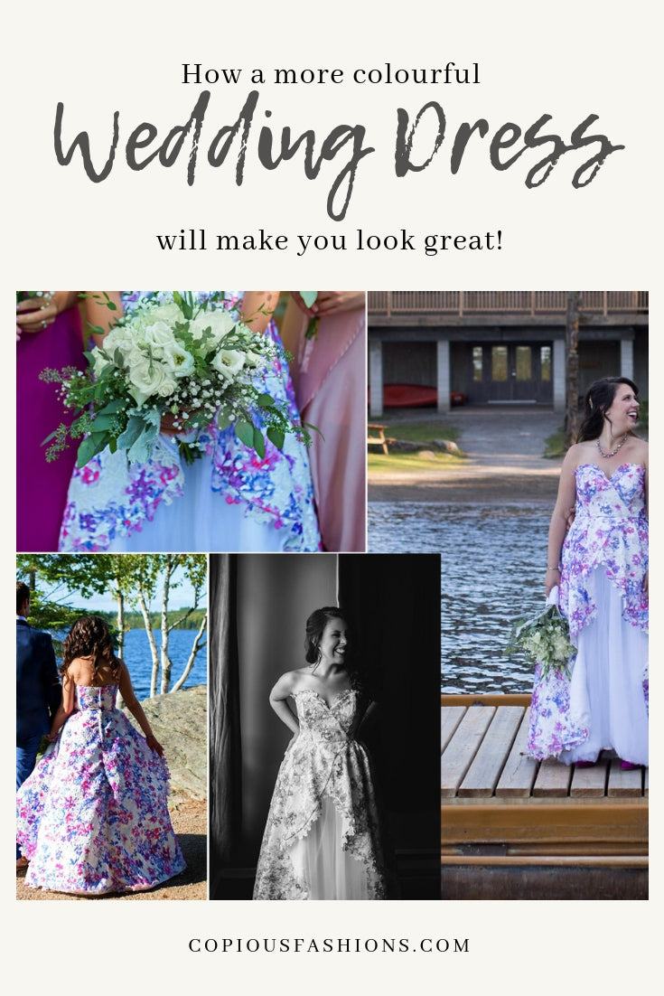 How a more colourful wedding dress will make you look great
