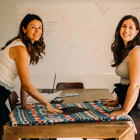 Mel and Trish, owners and designers of Mini Tipi