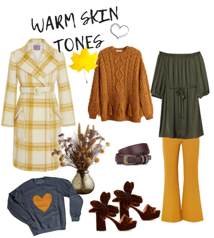 warm skin tone colour wardrobe choices