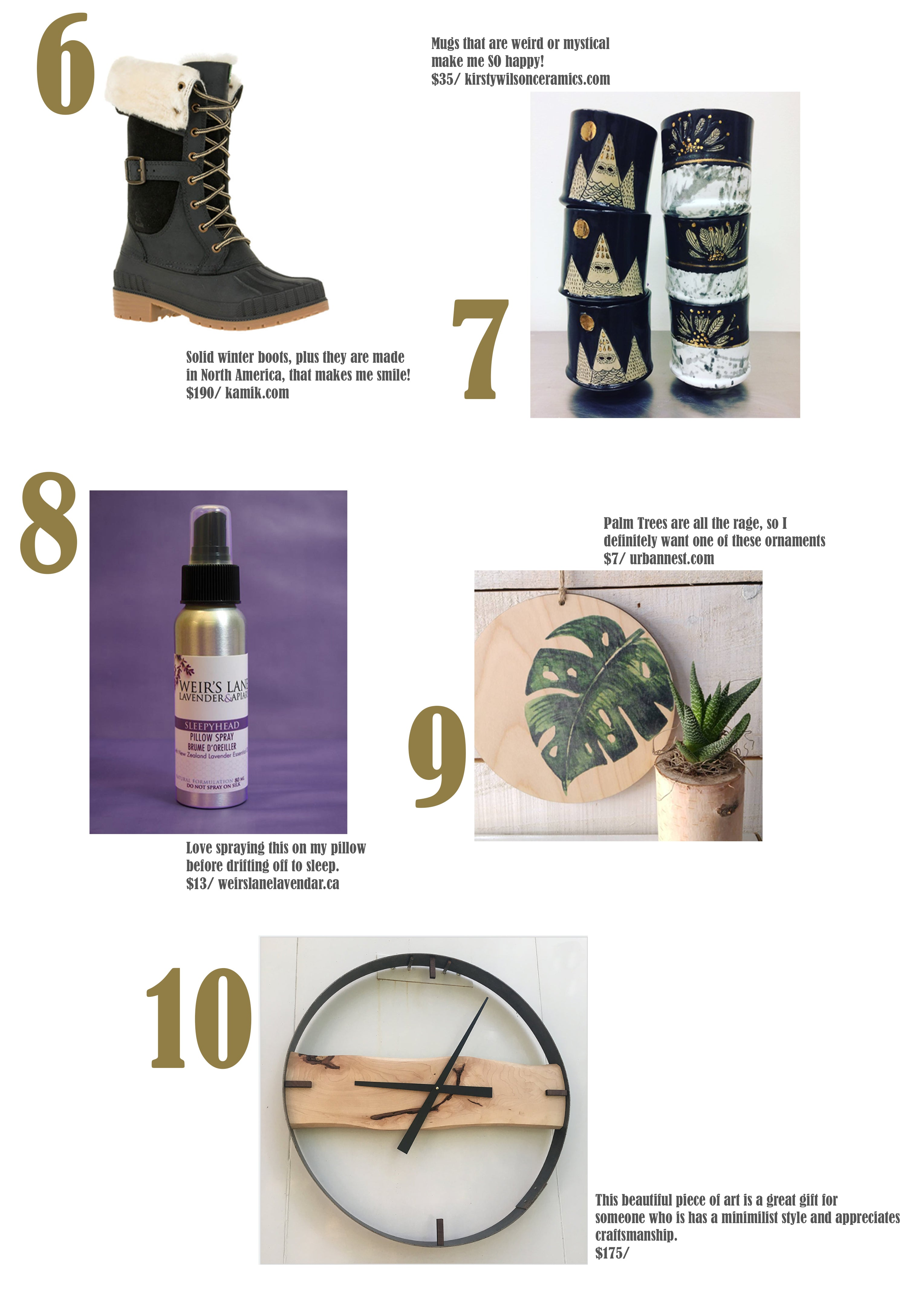 kamik winter boots, kristy wilson ceramics, weirs lane lavendar, urban nest decor