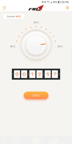 Fired Up Temperature Control for Android Devices