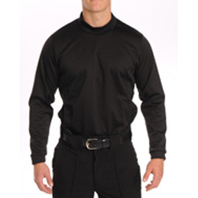 Black 100% Heavy Polyester Fabric with Hig Crew Neck and Self-Hemmed Sleeves