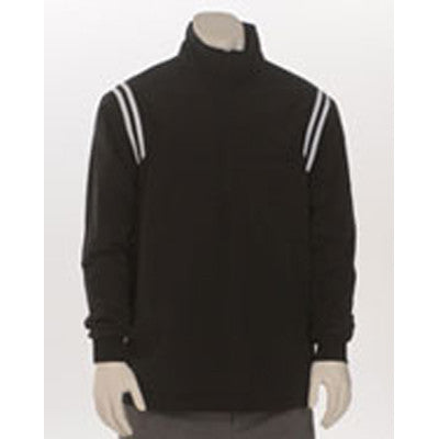 Long Sleeve Microfiber Shell Pullover Jacket - Water Resistant with Half Zipper Front, Left Chest Pocket and Open Bottom