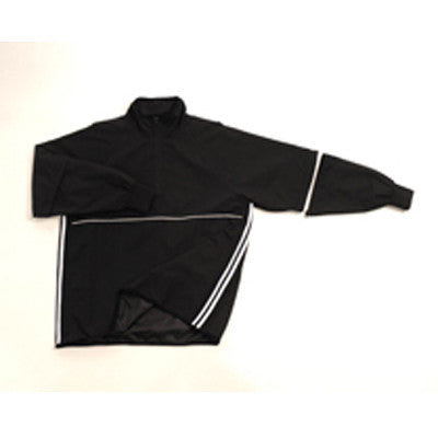 Convertible Half-Sleeve Microfiber Shell Pullover Jacket - Water Resistant Half Zipper Front-Open Bottom