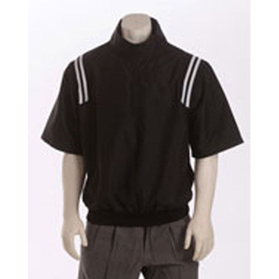 1/2 Sleeve Microfiber Shell Pullover Jacket with Half Zipper, Side Seam Pockets and Poly/Nylon Lining