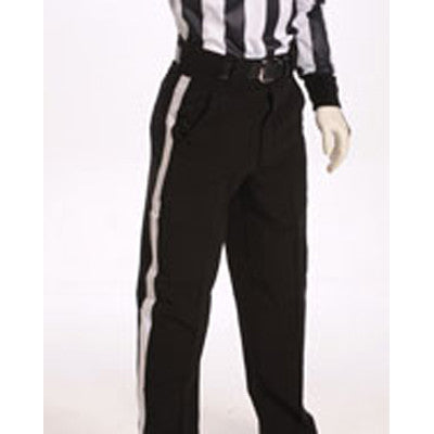 "Full-Cut ""WARM WEATHER PANT"" with 1 1/4"" White Stripe 100% Doubleknit Moisture Wicking Polyester with Inset Back Pockets, Tunnel Belt Loops and Slash Front Pockets"