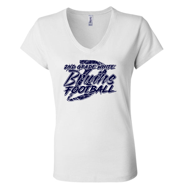 BYFB16 - Ladies SS V-Neck T-Shirt