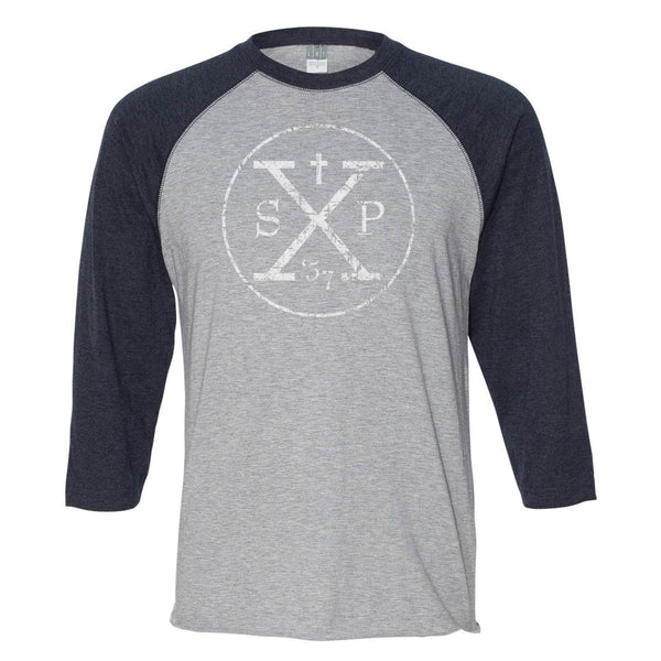 "AUCTION ""SPX Circle"" 3/4 Sleeve Baseball T"