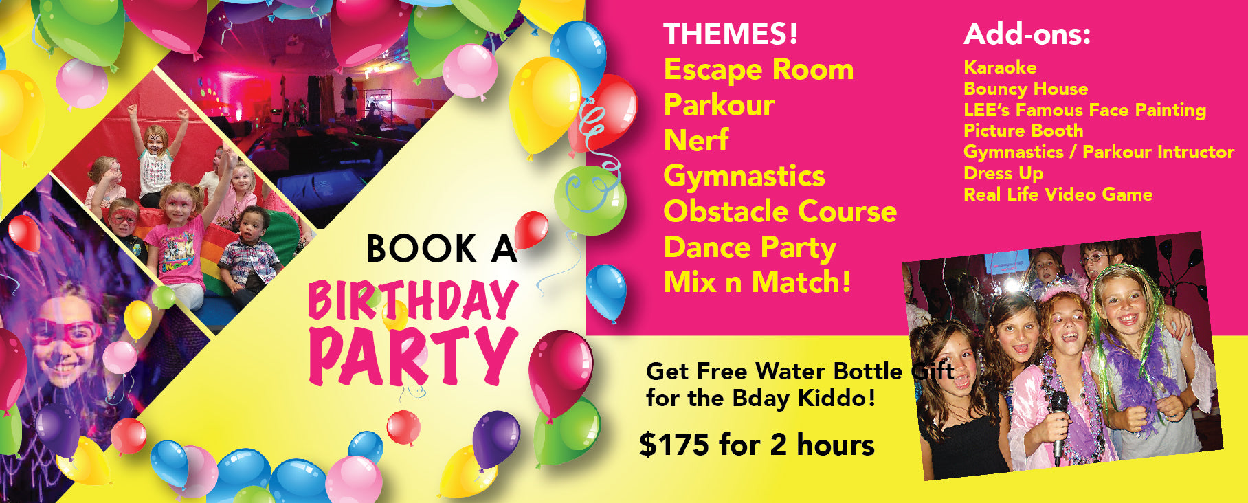 Birthday parties kids unplugged inc our birthday parties are completely private meaning its only you and your invited guests in our bounce house and play area filmwisefo