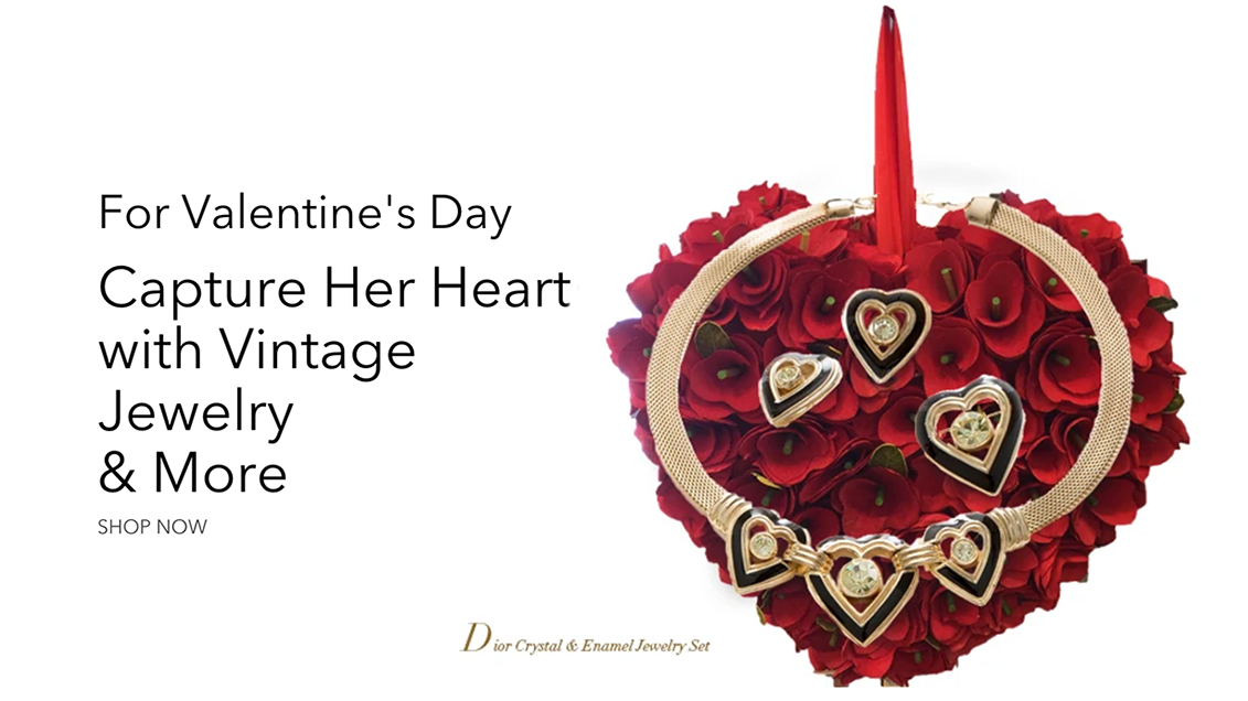 vintage jewelry for valentines day
