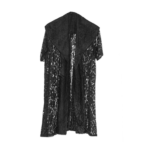 1950s Black Lace Evening Coat, Shawl Collar