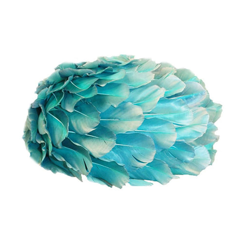 1960s Aqua All-Over-Feather Hat 3 by Andre Denis Paris
