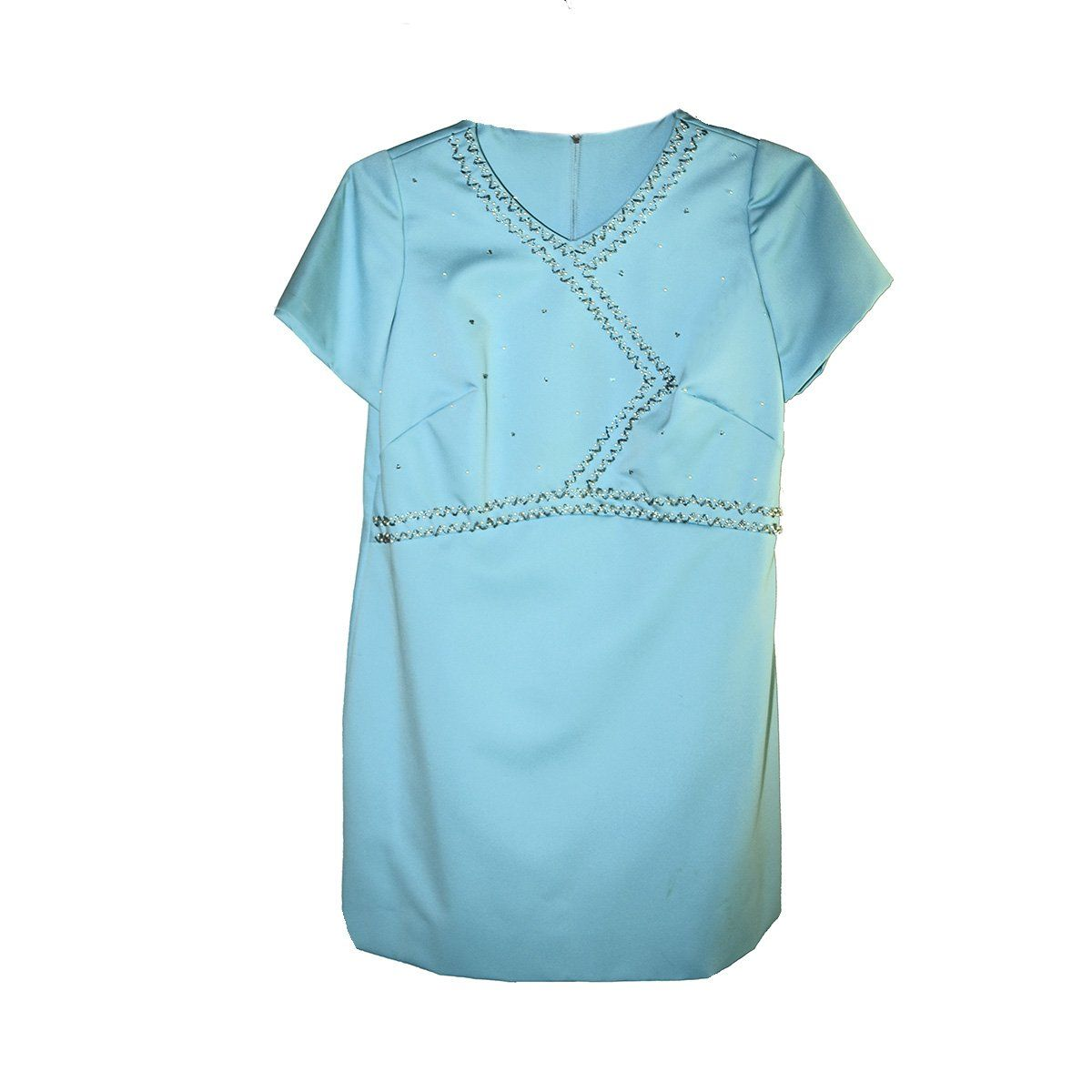 Aqua Blue Mini Dress 2 with Decorative Beading