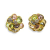 Vintage Avon Crystal Earrings, Pastel Floral Design, avon earrings