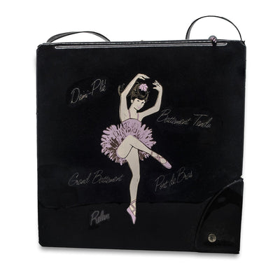 Vintage 60s Ballerina Travel Case with Ballet Shoes Compartment