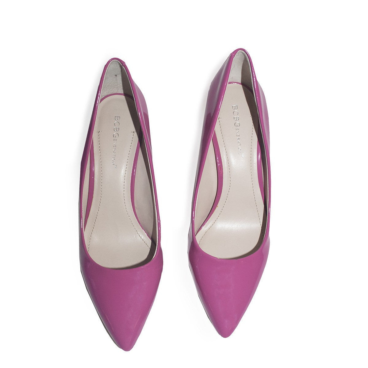 BCBGeneration High Heel Pump, Pink Patent Leather 2