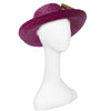 Vintage Betmar Purple Straw Wide Brim Sun Hat 3