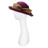 Vintage Betmar Purple Straw Wide Brim Sun Hat 4