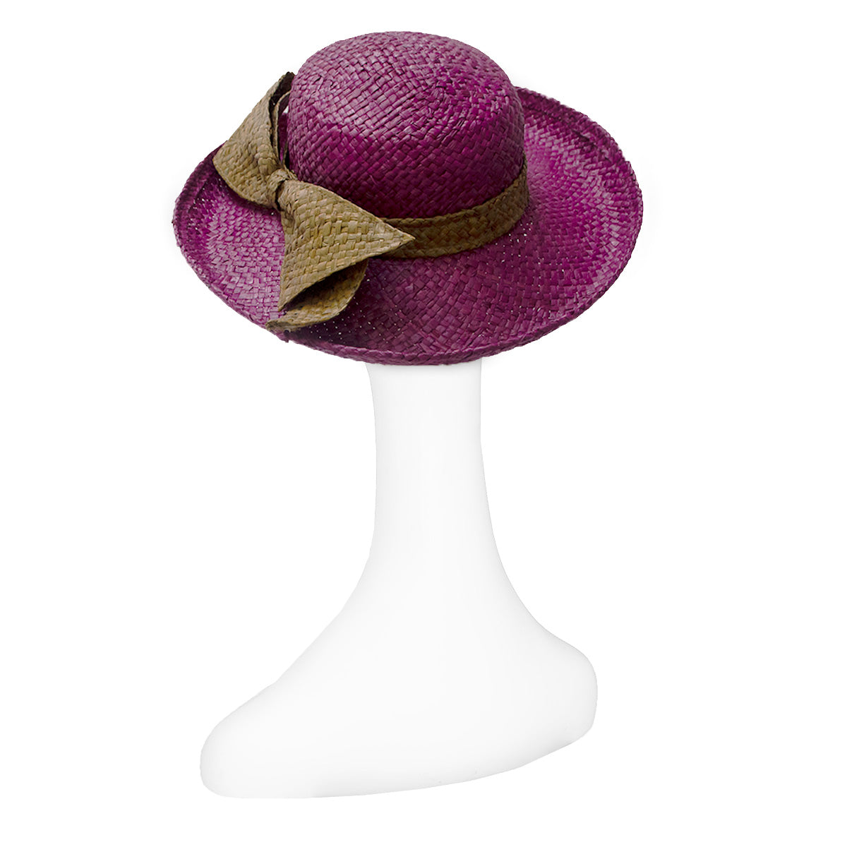 Vintage Betmar Purple Straw Wide Brim Sun Hat 5