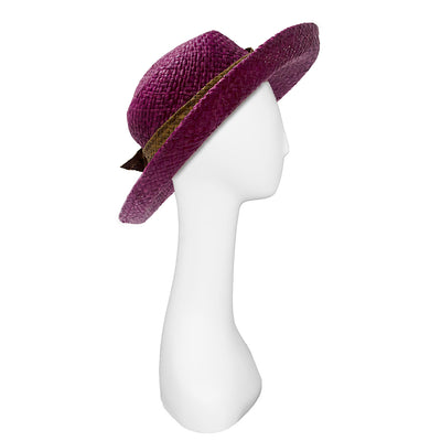Vintage Betmar Purple Straw Wide Brim Sun Hat 6