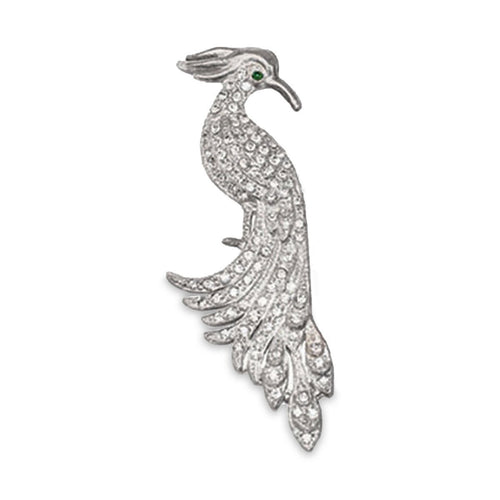 1940s Rhinestone Bird Brooch