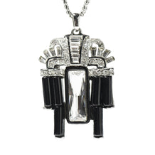 Kenneth Jay Lane (KJL) Art Deco Necklace, Silver Chain