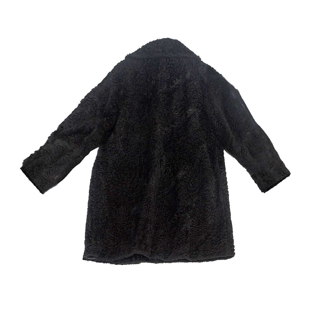 Vintage 60s Black Persian Lamb Car Coat 4