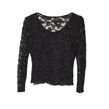Black Lace Top, Long Sleeve, Small