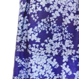 1950s Blue Silk Floral Jacket & Dress with Belt by Jerry Gilden NY