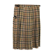 Vintage 1970s Scottish Kilt, Burberry Tartan, 100% Wool